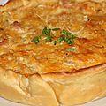 Tarte au cheddar, pommes de terre et jambon