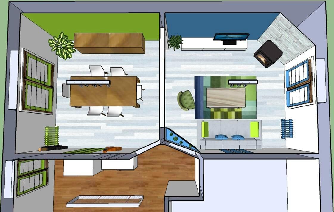 projet entree salon salle a manger d cor vos envies. Black Bedroom Furniture Sets. Home Design Ideas