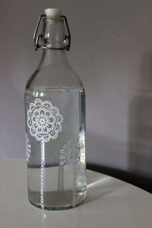 bouteille verre customisée au posca3