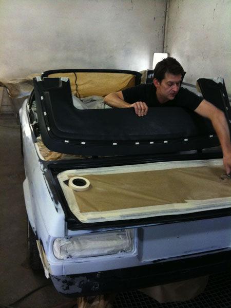 camouflage et peinture restauration d 39 une bmw 325 e30 cabriolet. Black Bedroom Furniture Sets. Home Design Ideas