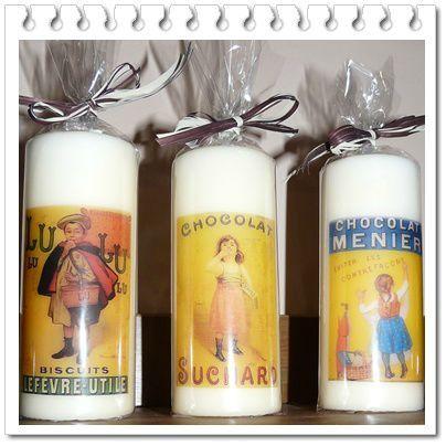 3 bougies pub rétro