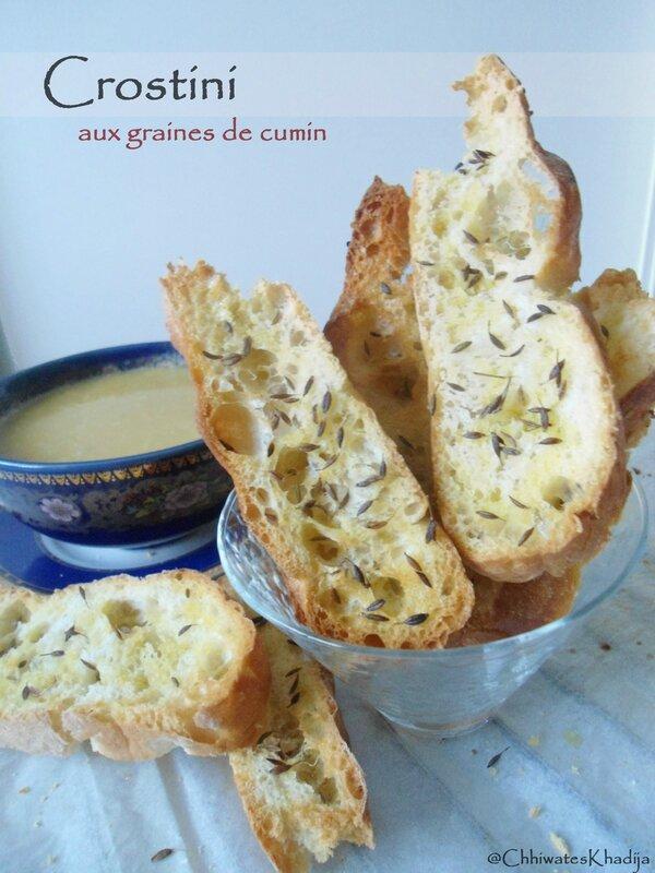 Crostini graines de cumin