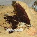 Gâteau château de sable après 15 minutes sur le buffet