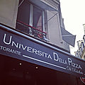 An afternoon in Paris • Universita della pizza (Rebellato)