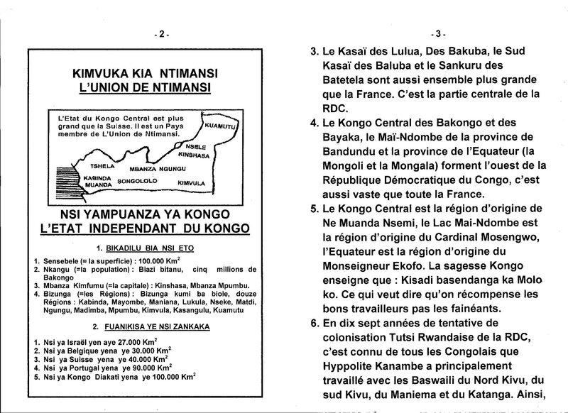 LE GRAND MAITRE DE LA SAGESSE KONGO PRESENTE LA SUPERFICIE DE LA RDC b