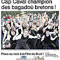 Revue de presse du week-end : les bagadou dans ouest-france