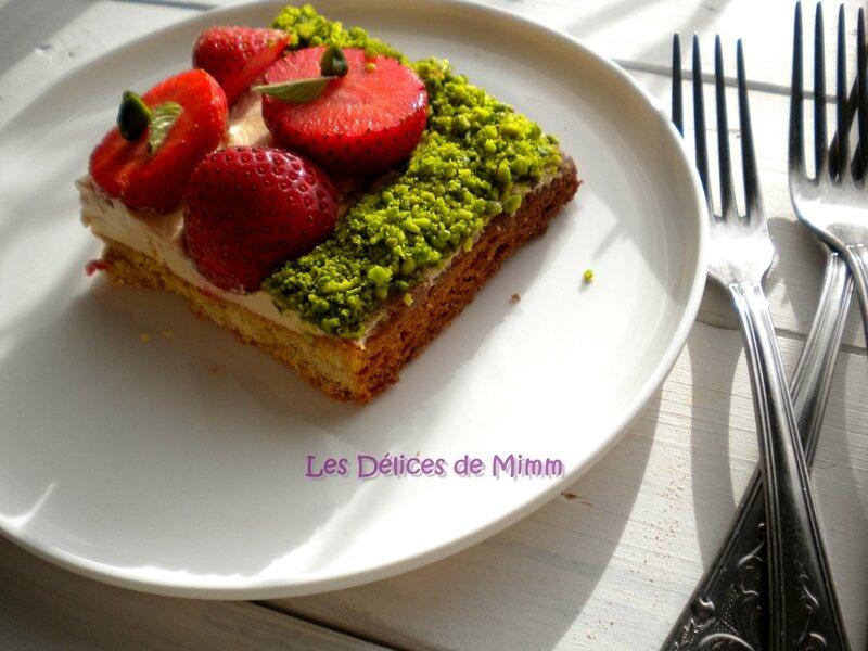 Sablé breton, fraises et caramel au beurre salé de Christophe Adam 7