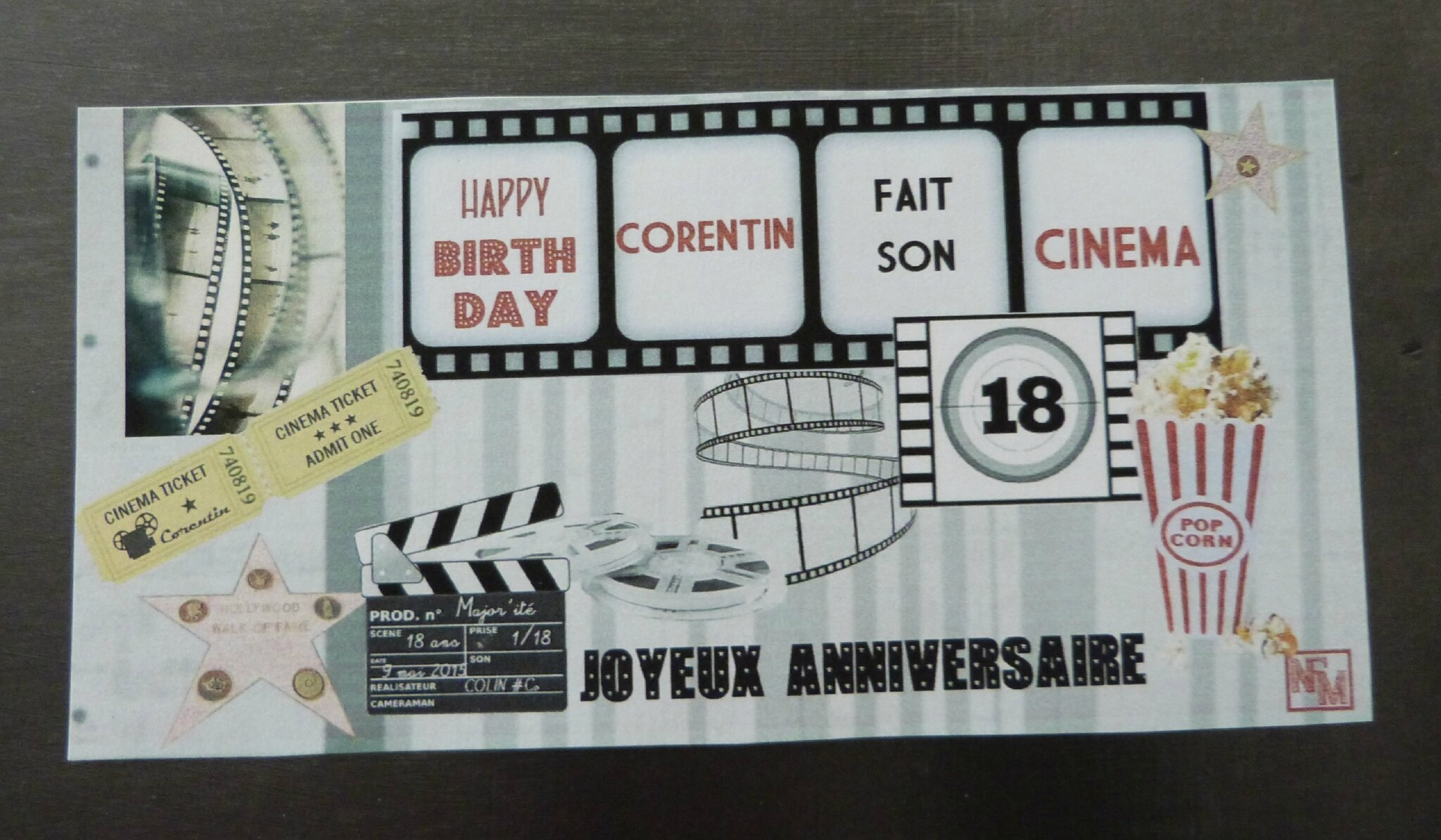 kit anniversaire cinema