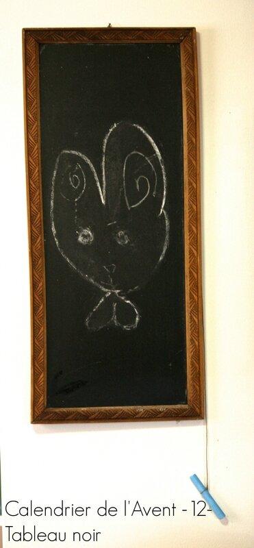 calendrier de l'avent 12 tableau noir