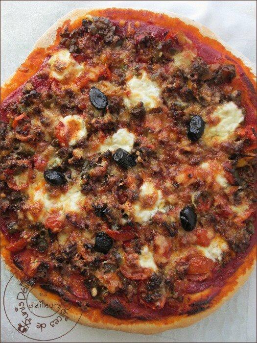 pizza briochée à la viande hachée 2