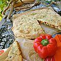 Focaccia à la scarmorza affumicata (fumée) et aux poivrons