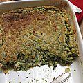 Gratin brésilien épinards et poulet, recette de bernard laurance