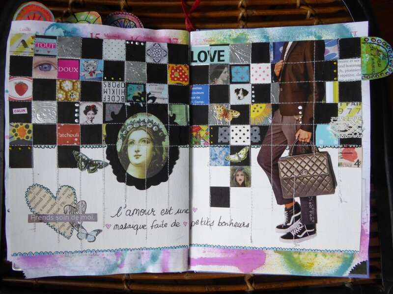 art journal love to love les formes