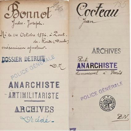 archives nationales police cocteau