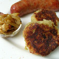 Saucisses au four Bubble and Squeak