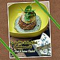 Croquette de lentilles & champignon rôti - crème de fourme d'ambert