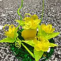 Sucre tiré : les fleurs de pommier et un premier montage