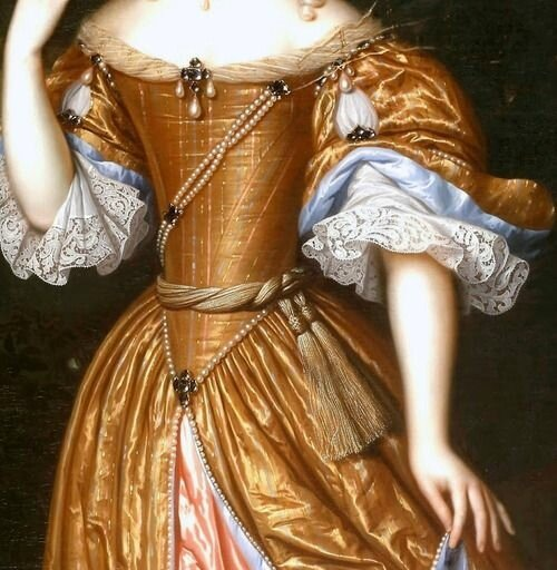 Portrait of an Unknown Lady (1671) (detail) by Pieter Nason