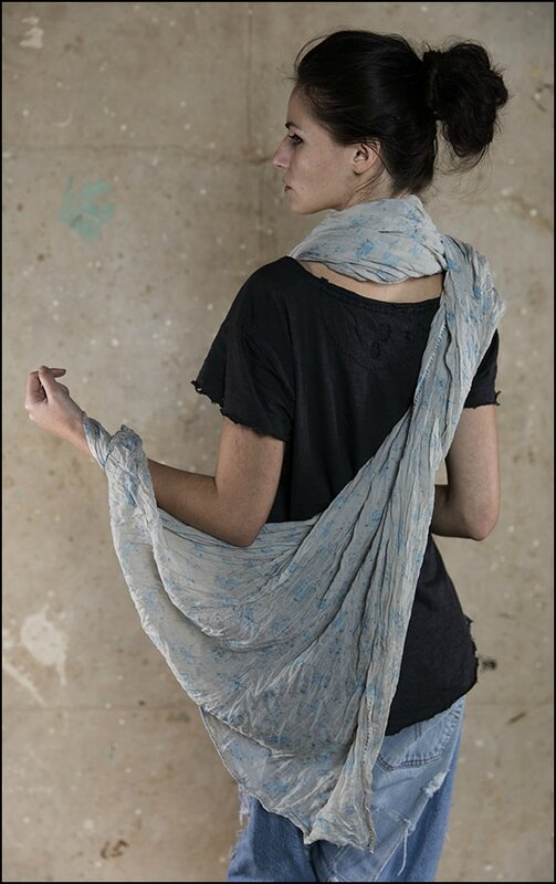 Polina Scarf 012 - Forget Me Not