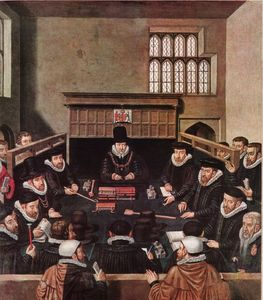 William Cecil presiding over the Court of Wards and Liveries