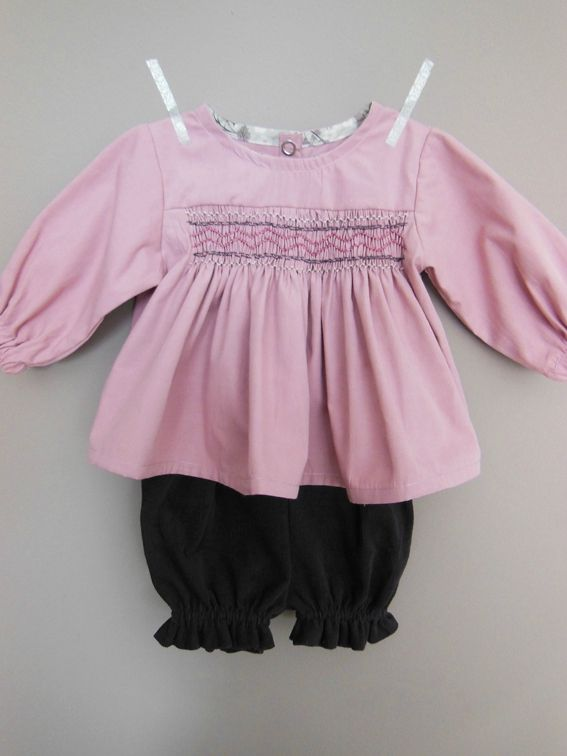Tenue blouse smocks-sweet boudoir6M 1-4