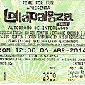Arcade fire / pixies / ellie goulding - dimanche 6 avril 2014 - festival lollapalooza - circuit d'interlagos (são paulo)