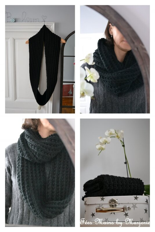 Snood double tricot1