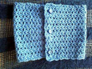 col bleu crochet