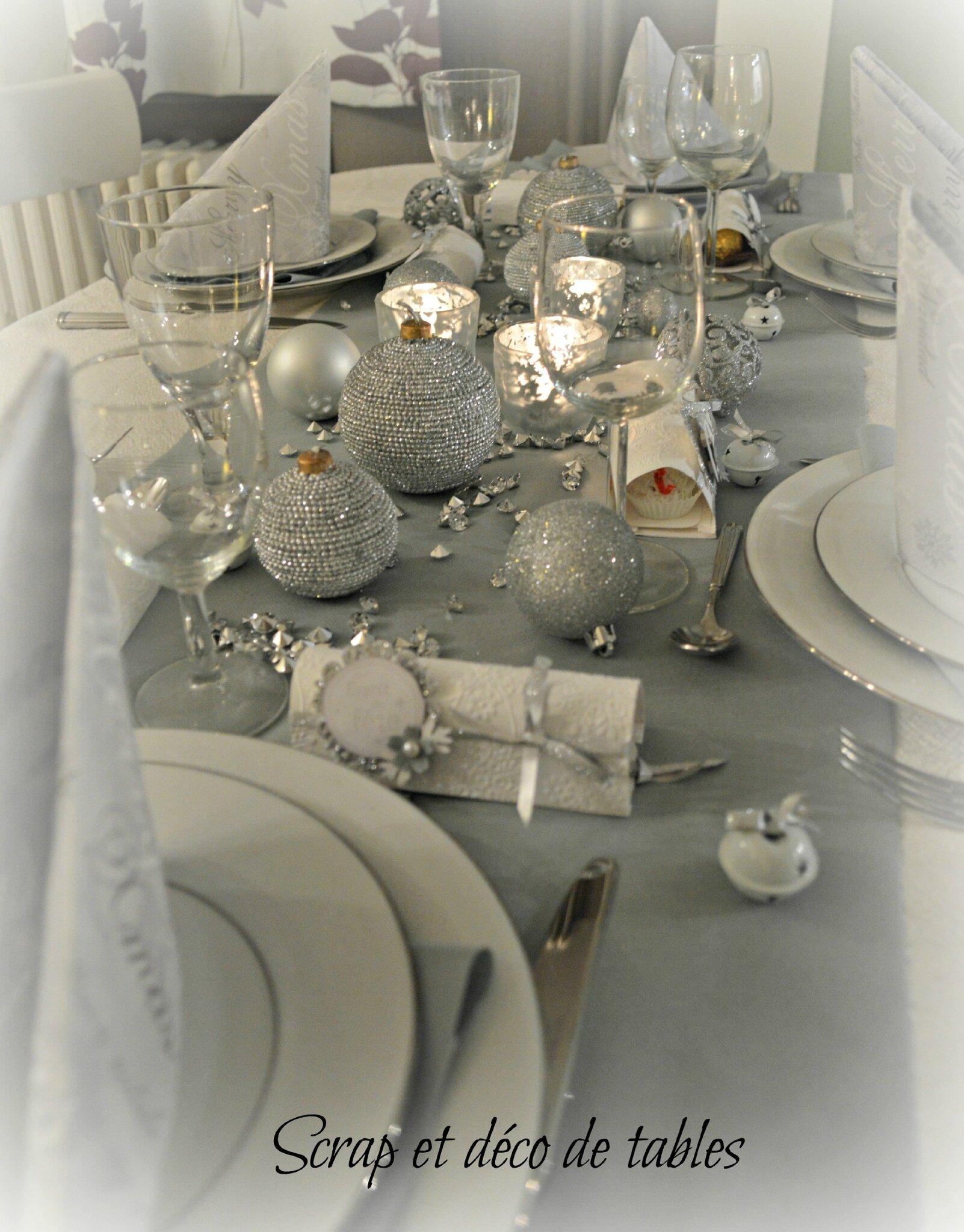 #9D732E DECO DE TABLES DE NOËL ARGENTÉE Scrap Et Déco De Tables 6185 decoration de table de noel en scrap 1602x2048 px @ aertt.com