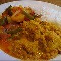 Poulet à l'indienne, sauce coco