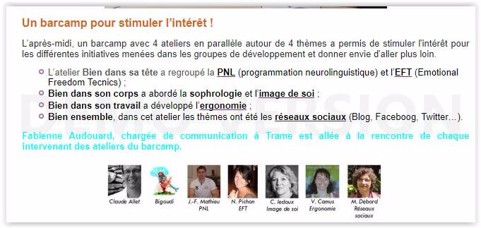 equilibre interviews page site trame