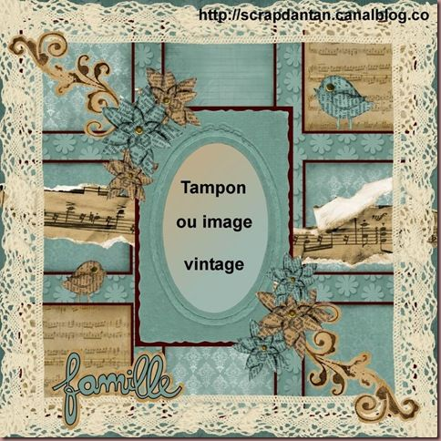 sketch carte shabby