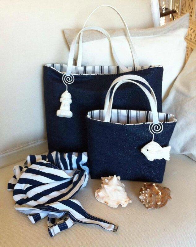 2 sacs cabas plage