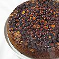 Gâteau renversé chocolat noisettes
