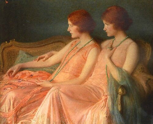 Albert Herter (American painter, 1871–1950) The Bouvier Sisters