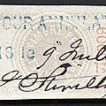 Etoile de barre, la série dite de 1874
