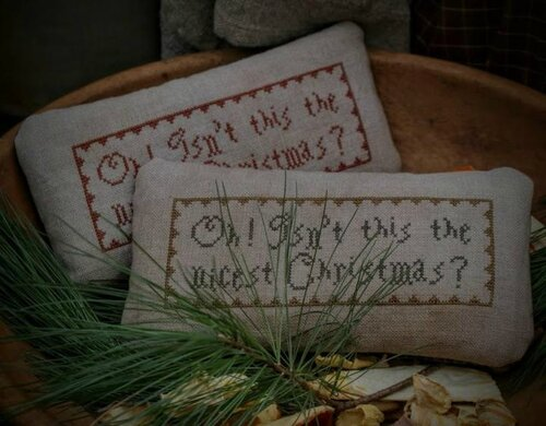 Oh isn't this the nicest Christmas stitched by Susan Hoover