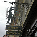 Enseigne d'un restaurant à Colmar