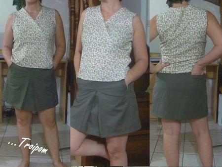 ensemble blouse+jupe