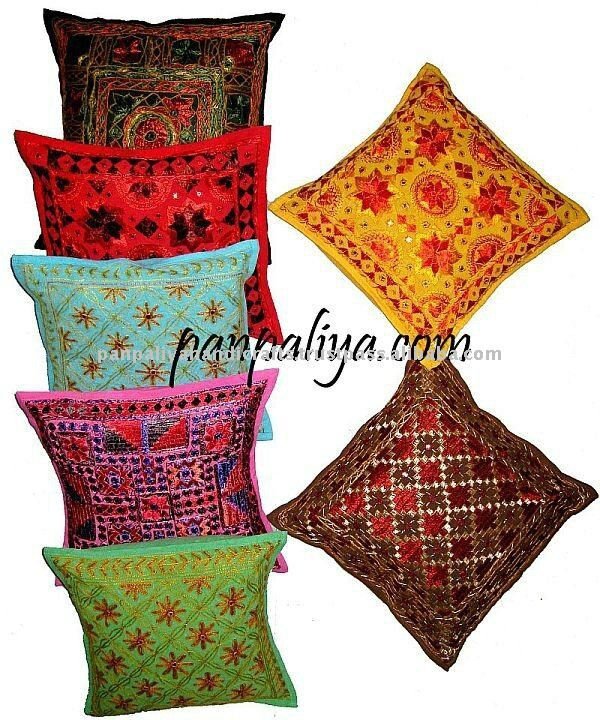 Decorative-India-tribal-Embroidered-pillow-covers-wholesale