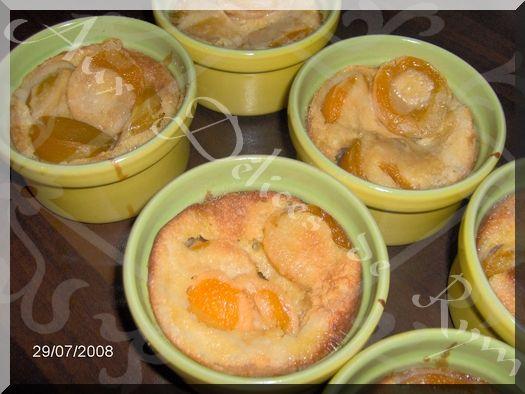 Mes minis clafoutis aux abricots