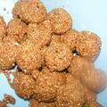 Macarons à la cacahuète (ghoriba dial kaoukaou))