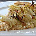 Tarte fine au fenouil, crabe et chèvre frais