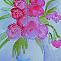 FLEURS A L'AQUARELLE - FLOWERS IN WATERCOLOURS