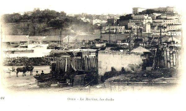 Oran- 119- travail sur les quais