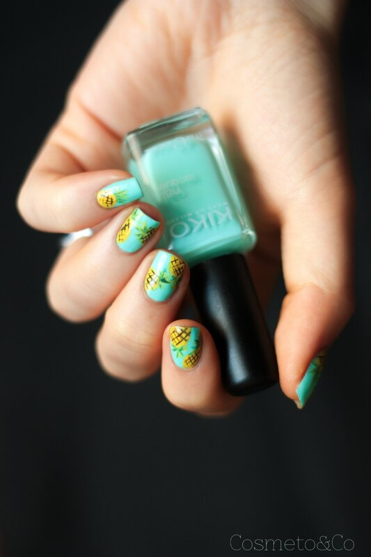 nail art ananas tropical été summer pineapple_-5