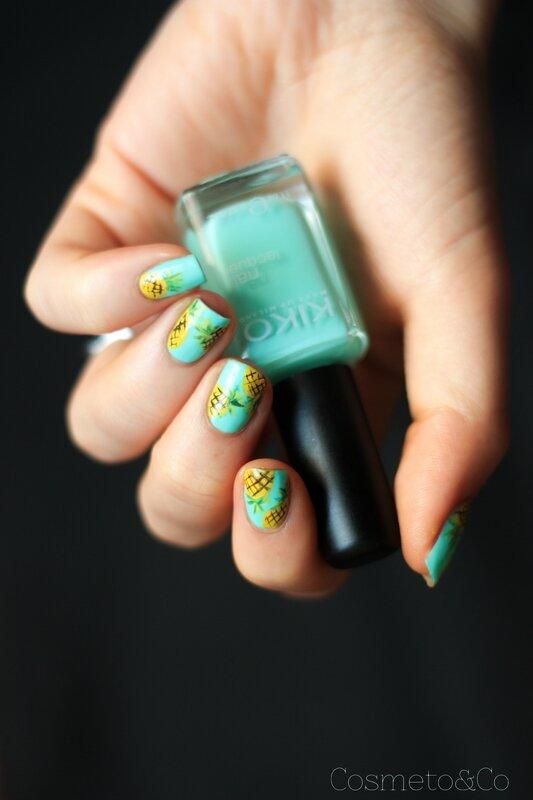 nail art ananas tropical été summer pineapple_-5