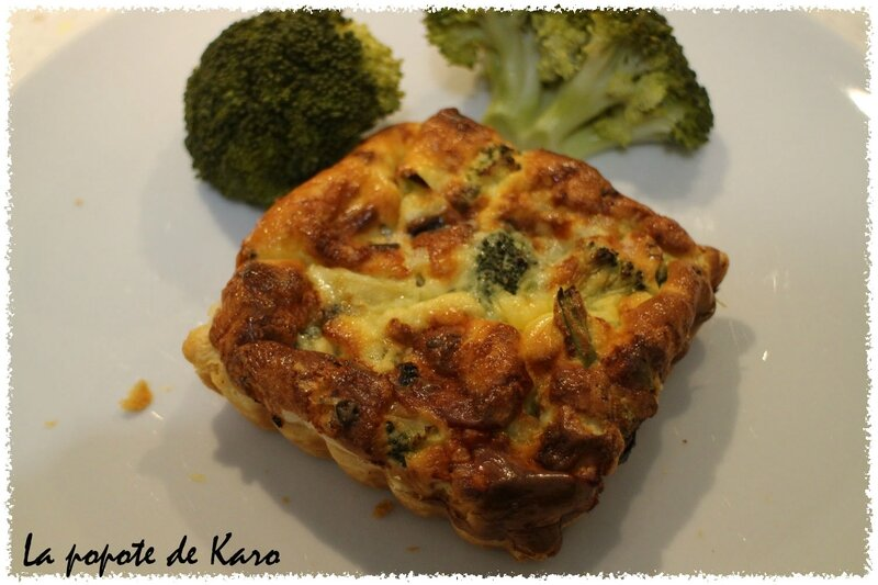 Quiche brocolis roquefort