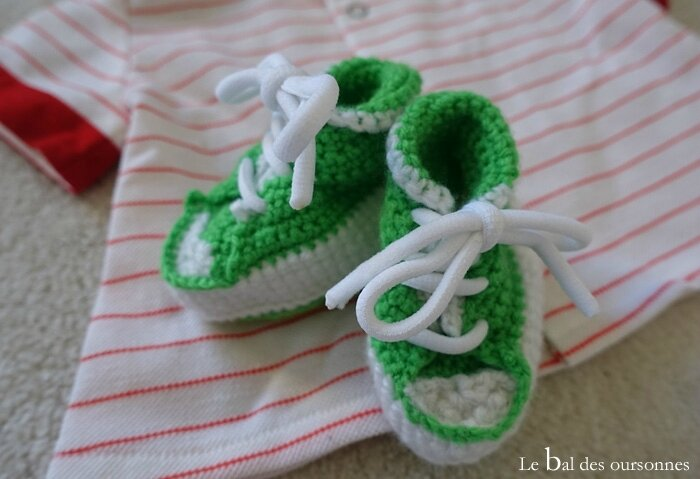 117 Blog Basket Converse Crochet Bébé