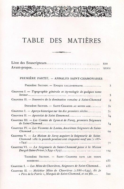 table des matières (1)